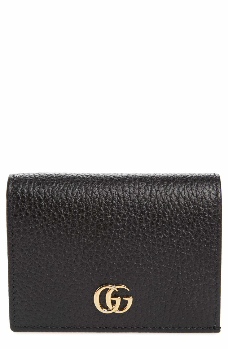Main Image - Gucci Petite Marmont Leather Card Case