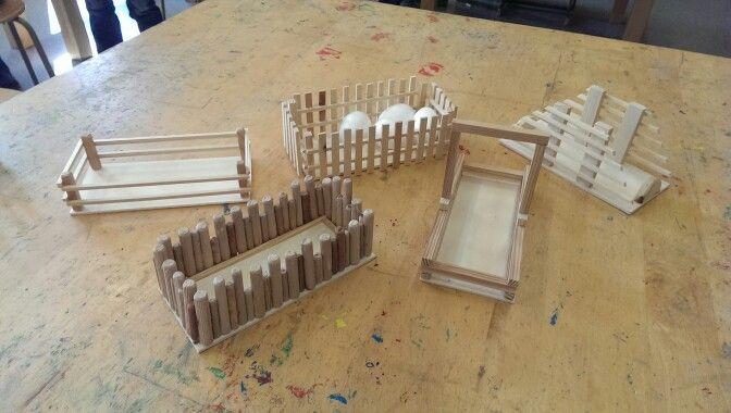 Osterkörbchen aus Holz