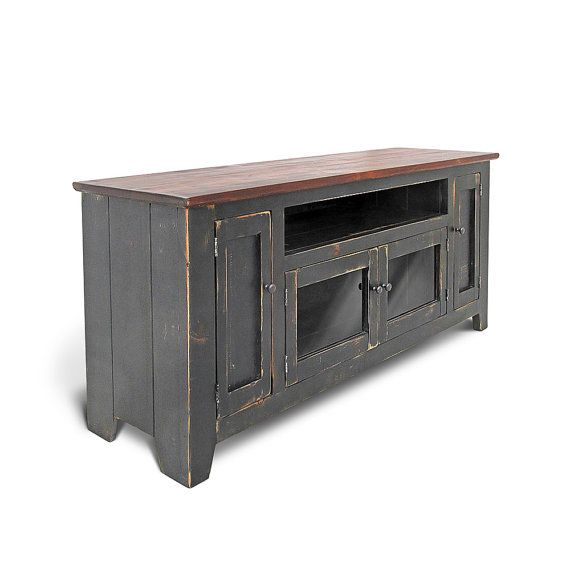 Media Console, TV Stand, Reclaimed Wood, Entertainment, Console Cabinet, Handmade, Rustic