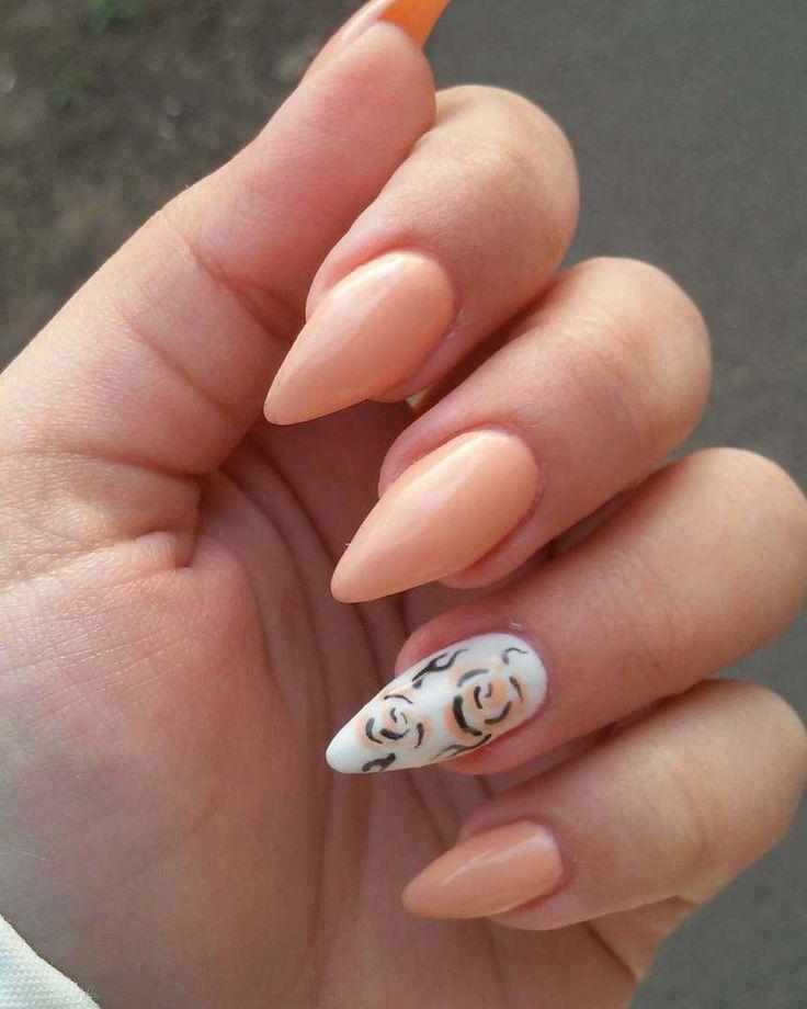 Best 25+ Peach nail art ideas on Pinterest