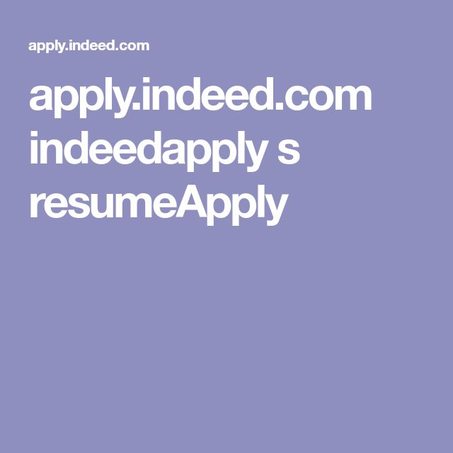 Apply Indeed