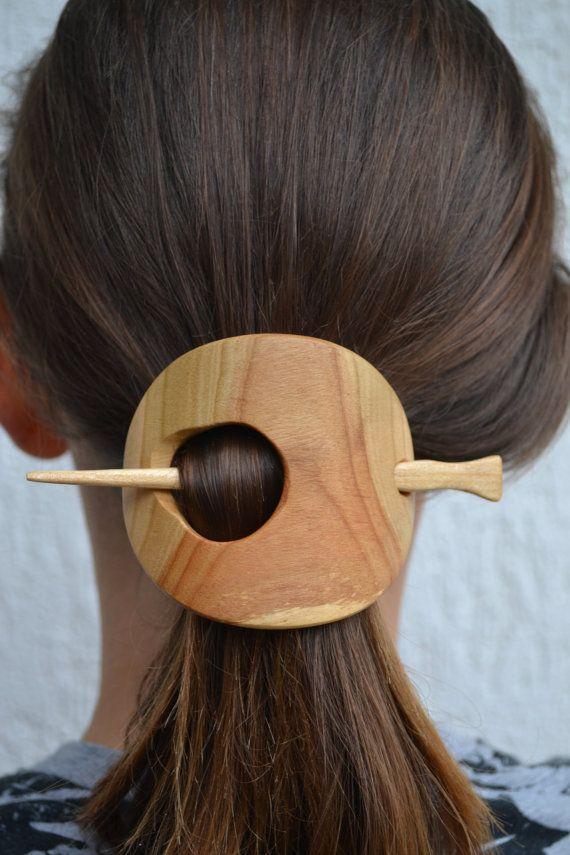 Haar Barrette Hair Pin haar Stick dia houten sjaal door tangram77