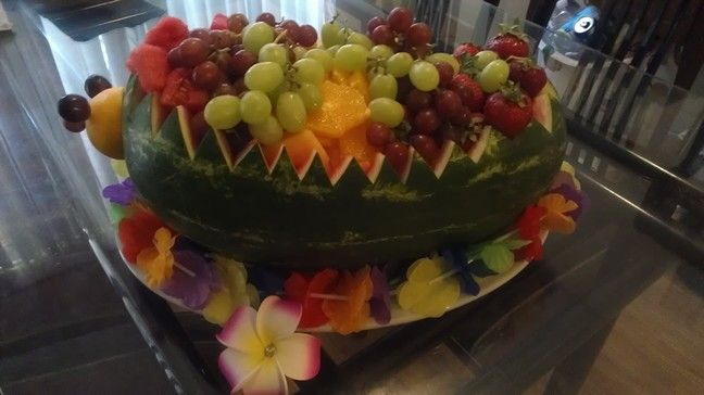 Fruit bowl.....for a Hawaiian Party