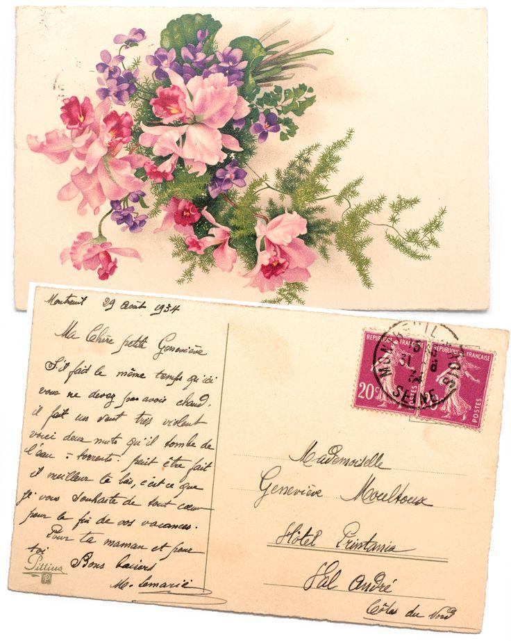 здесь старые открытки подписанные основном