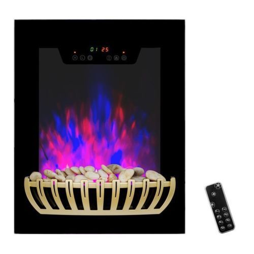 Electric-Fireplace-Heater-Wall-Mounted-Remote-Control-Touch-Screen-Heat