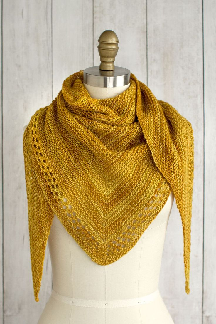 Just a day late… :-) (Photo:Fairmount Fibers Design Team) Ojete by the Fairmount Fibers Design Team is a beautifully simple and sunny summer shawl knit with just one skein of Manos del Urugu…