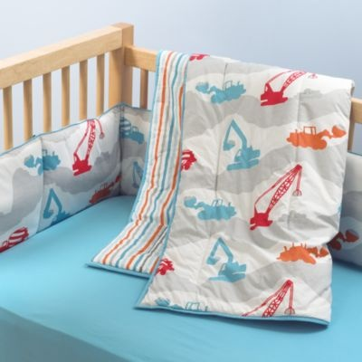 Construction Print Crib Bedding   This Construction Zone Bedding Is Too Fun  For Little Guys. I Would Love This Pattern In Any Of My Boysu0027 Rooms.