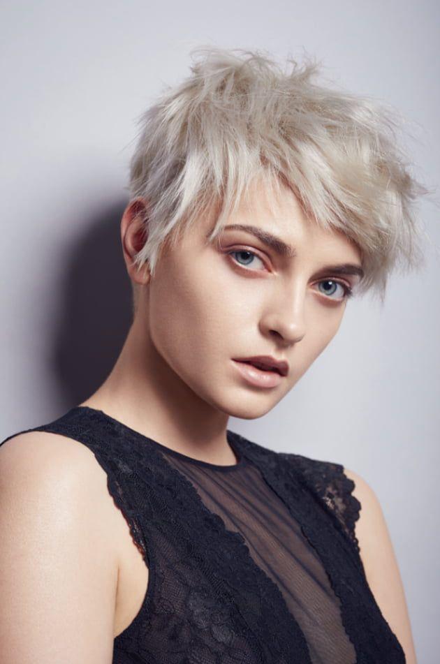 Le court blanc polaire | Cheveux courts, Coupe courte blonde, Coupe de cheveux
