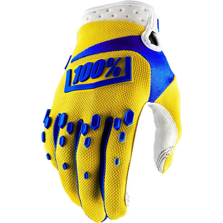 100% Percent 2018 Airmatic Yellow Gloves