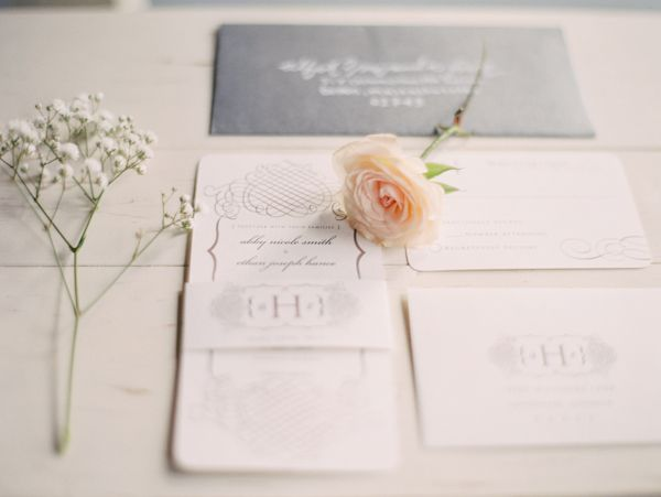 wedding invitations from Seattle Washington Wedding Shoot featured in our Summer-Fall 2015 issue. #trendybride
