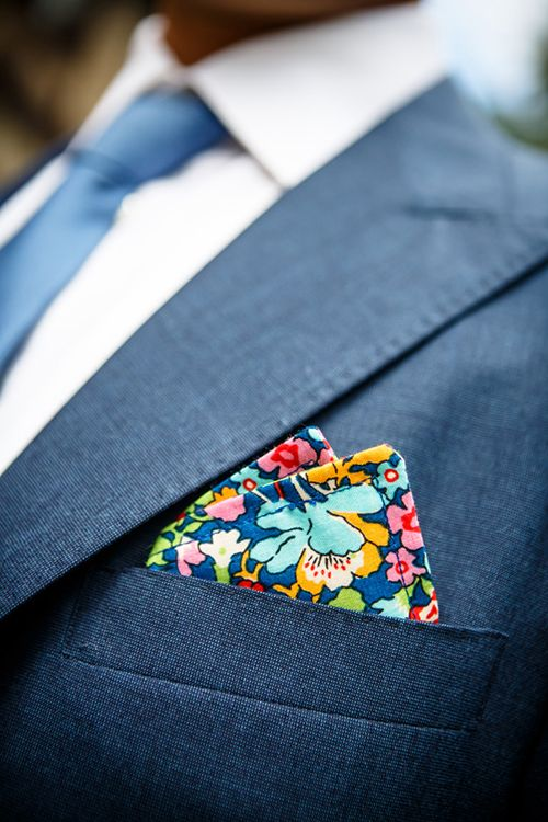 A Liberty of London pocket square | @4EyesPhotoNYC | Brides.com