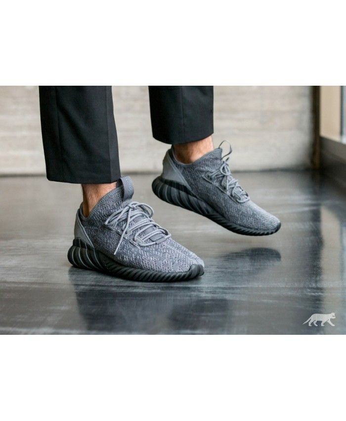 uk availability f6478 7de4c Adidas Australia Tubular Doom Sock Primeknit Grey Four Core Black Ftwr White  Trainers