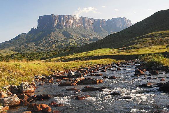 O deslumbrante Monte Roraima, na fronteira entre Brasil, Venezuela e Guiana.