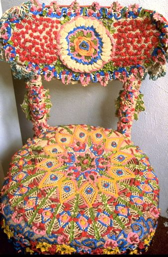 chair cover.... crochet.