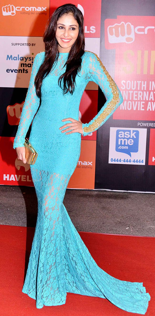 Pooja Chopra at SIIMA Awards 2014. #Bollywood #Fashion #Style #Beauty
