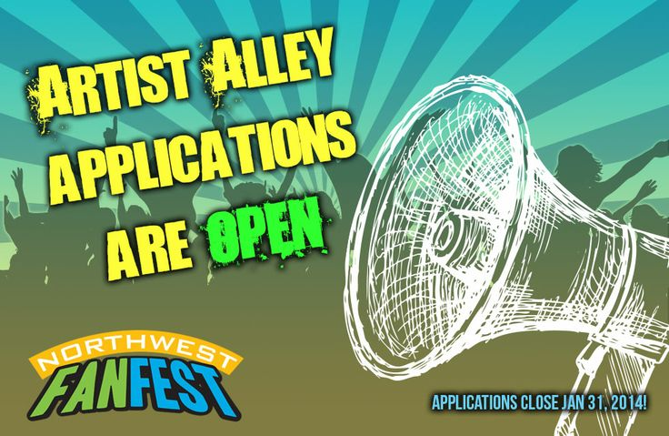 Applications for the Artist Alley are currently open, and we'd like to see you submit a portfolio. Because of the limited tables this year, we are awarding tables as 50% juried and 50% raffle from all submissions. Currently you can apply for a full table with two passes, a full table with one pass, or a half table with one pass. The application is very easy, and can be found here http://northwestfanfest.com/exhibitors/artist-alley/. Artist submissions close Jan 31, 2014.