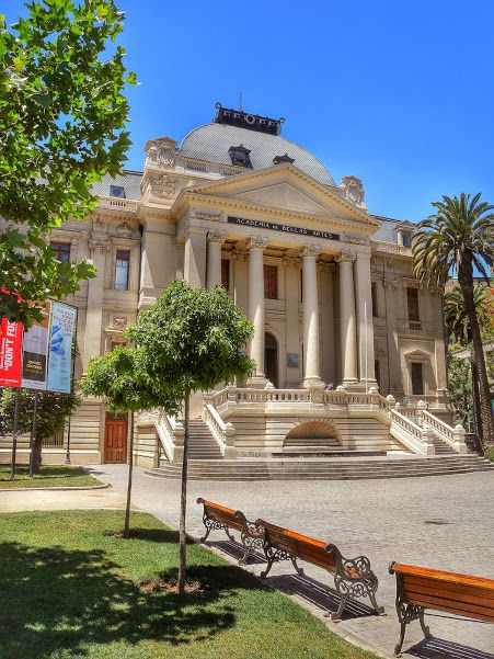 Santiago. The Contemporary Art Museum in Parque Forestal