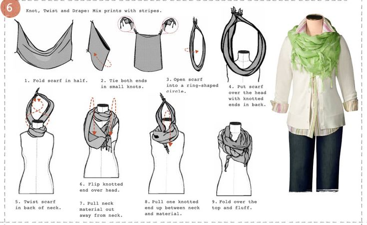 Tiny Sparkly Things: DIY -How to Tie/Wear a Scarf