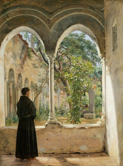 In the Cloister, Palermo, 1840, Martinus Rørbye