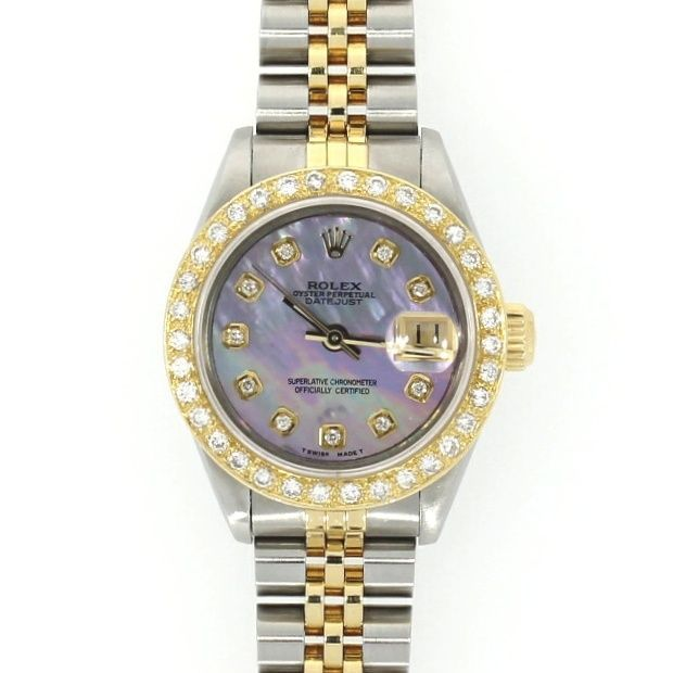 Ladies Pre Owned Rolex Oyster Perpetual Datejust Steel & Gold Watch 69173 RW0079 #Rolex #Watch #luxarywatches #Rolexdatejust #Watchesofpintrest #Ladiesrolex