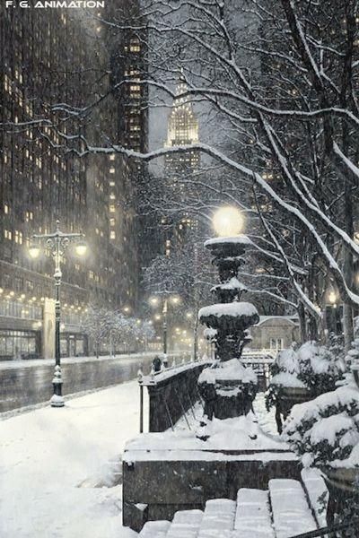 Manhattan, New York / Vereinigte Staaten von Amerika / United States of America / USA – Winter – Gif