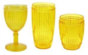 Milano Outdoor Drinkware - Yellow -set of 6