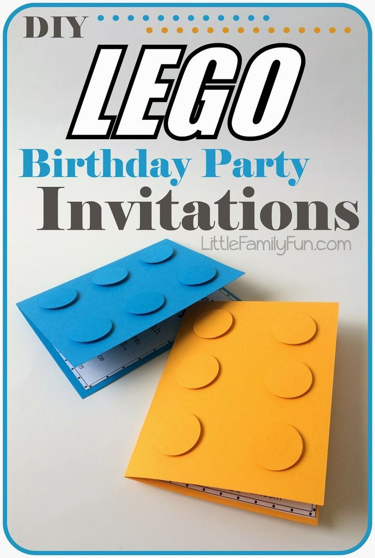 how to make lego party invitations  so easy  perfect for a