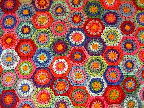 Colourful hexagons by Attic24, via Flickr
