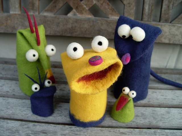 more felted puppets