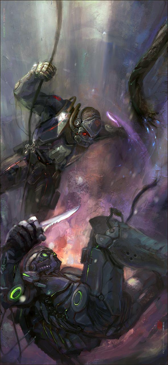 Starcraft 2: Ghost vs Spectre by ~Tabnir on deviantART
