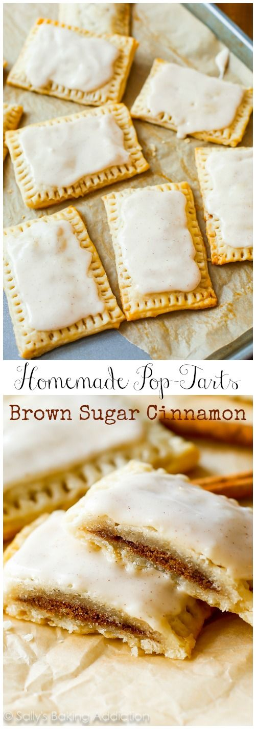 Homemade Frosted Brown Sugar Cinnamon Pop-Tarts - better than originals and are made with REAL ingredients!