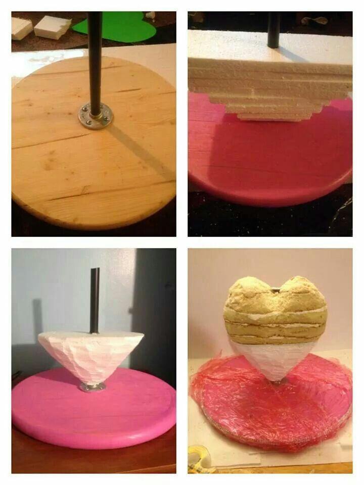 3D heart cake tutorial