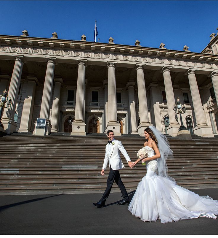 Fashion-Inspired Wedding in Melbourne, Australia - Be inspired by Vicki & Stephen's luxurious and fashionable wedding in Melbourne, Australia #wedding #luxury #couture #fashion #inspired #melbourne #australia #greek #orthodox #just #married #dress #bride #groom #model #inspiration