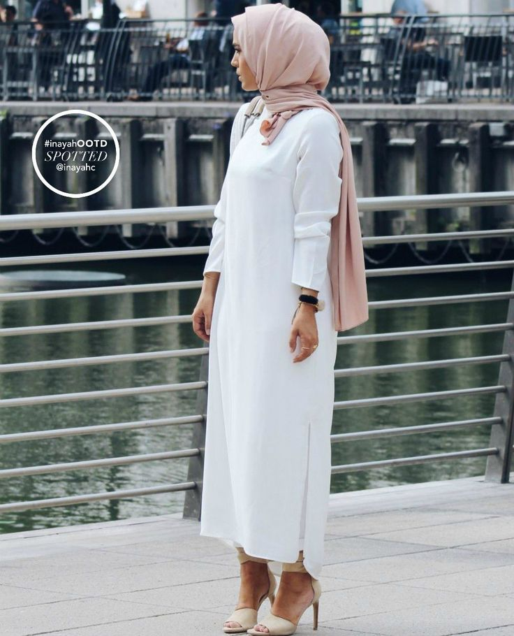 -As seen on TanyeshaWhite Long Crepe Dress -http://bit.ly/1K3hBPSNude Soft Touch Hijab -http://bit.ly/1hJBTCWwww.inayahcollection.com