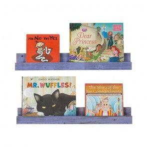 Kids barnwood bookshelves - set of 2-Purple