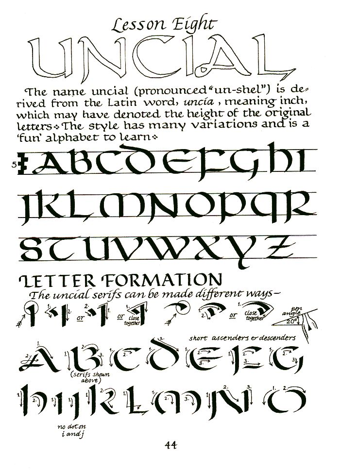 Uncial With Serifs Uncial Instruction I 39 M Learning A