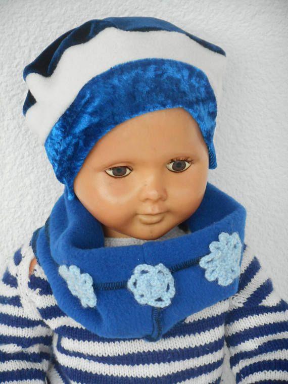 bonnet béret chapeau et snood bébé fille cadeau naissance lin eva kids  velours polaire a904bbee360