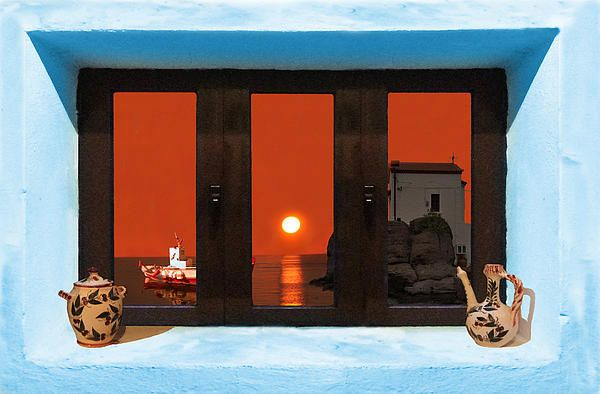 Window Into Greece 4 Outlook.  A New collection of digital paintings by Eric Kempson Eftalou, Molyvos, Lesvos, Greece  http://eric-kempson.artistwebsites.com www.epsilon-art.com