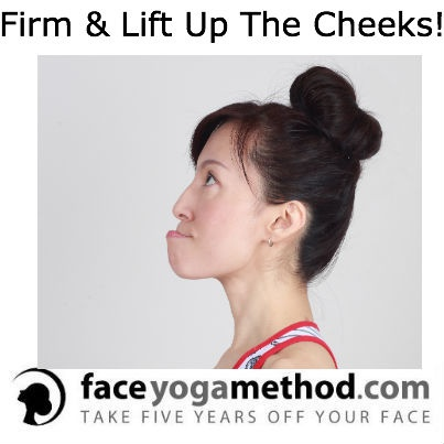 Try this to firm and lift up your cheeks naturally!