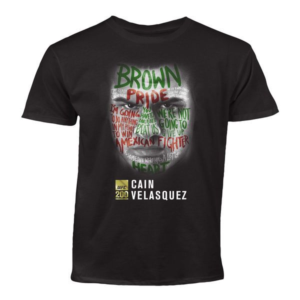 Cain Velasquez Youth UFC 200 Face T-Shirt - Black - $18.99