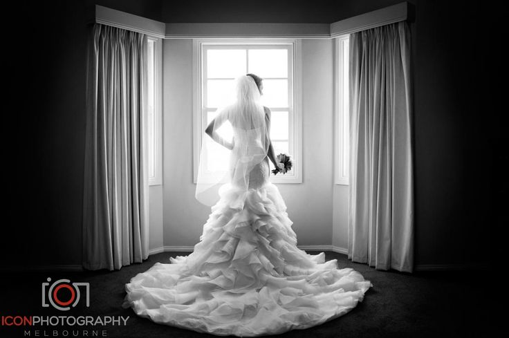 Gorgeous Ruffle Train - Wedding Gown