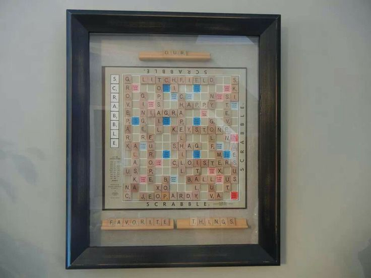 What a neat gift idea for the scrabble lover on your list!