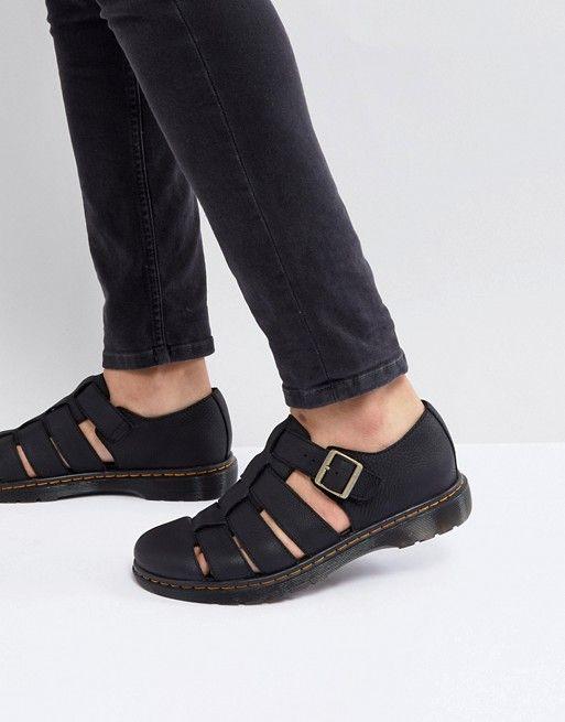 b9d8f57937c Dr Martens Revive Fenton Closed Sandals In Black in 2019 | stuff ...