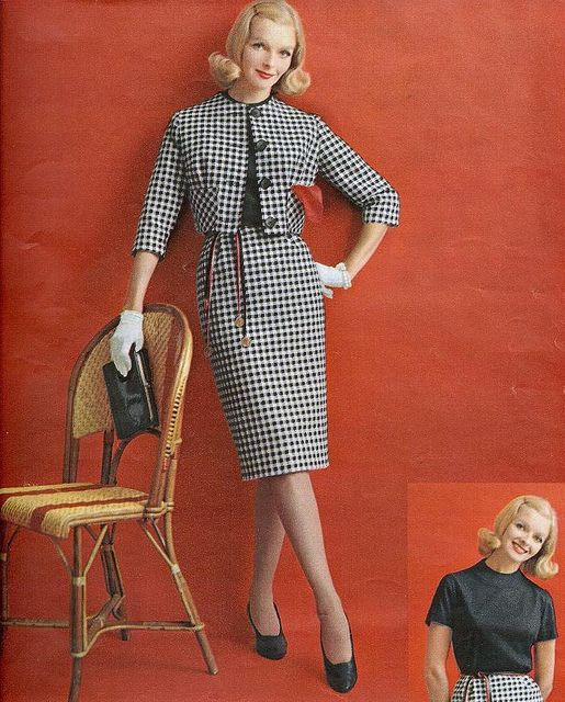 Red, black and white From Seventeen, January 1961 | Z ...