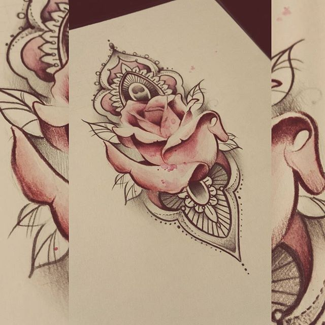 Vapaa kuva. Pystyisi tatuoimaan tällä viikolla jo :) #rose #rosemandala #watercolortattoo #watercolor #art #mandala #mandaladesing #mandalatattoo #tattoodesign #turkutattoo #soulskintattoo