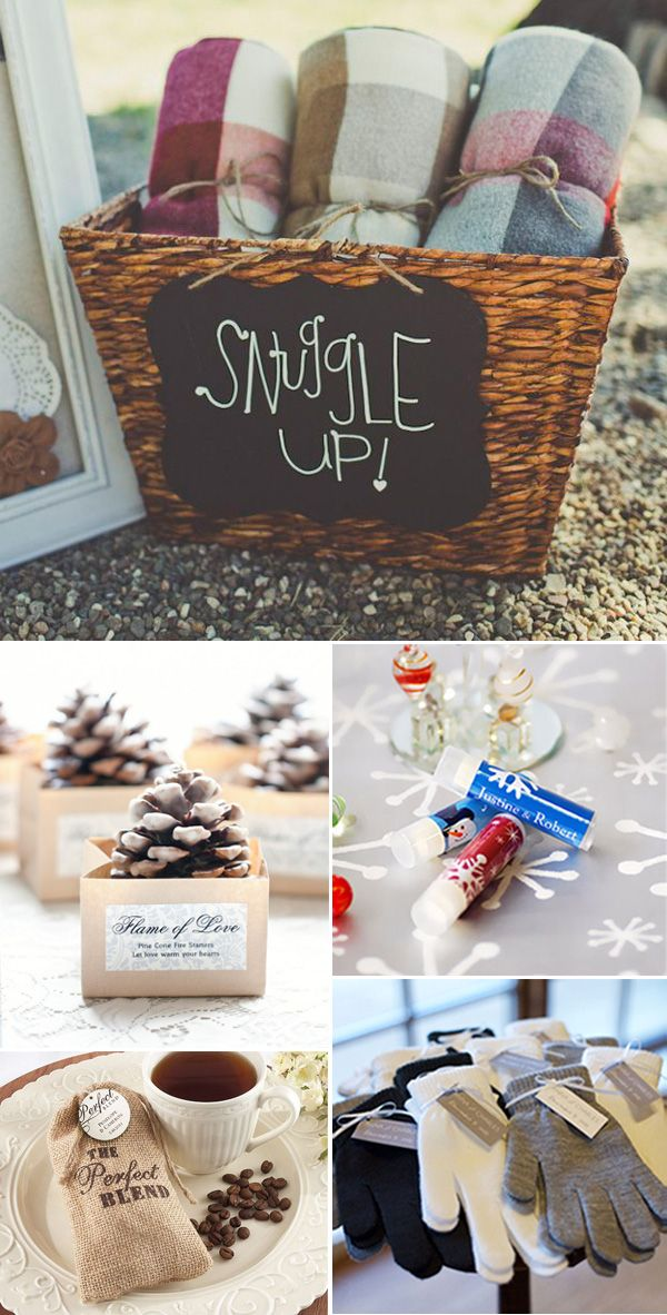 cozy winter wedding favor ideasand call (310) 882-5039 if you need an officiant https://OfficiantGuy.com
