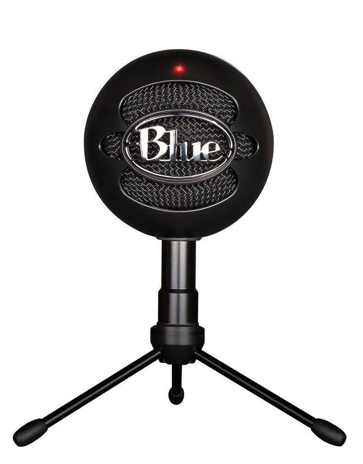 Blue Snowball iCE Condenser Microphone Cardioid  Black Blue Microphones