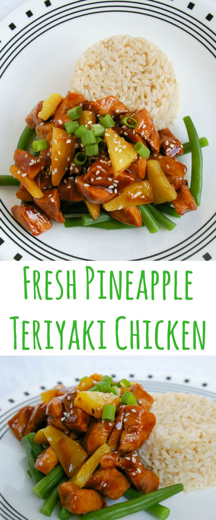 This Fresh Pineapple Teriyaki Chicken is sweet and savory. A quick weeknight dinner that's as easy as take out!