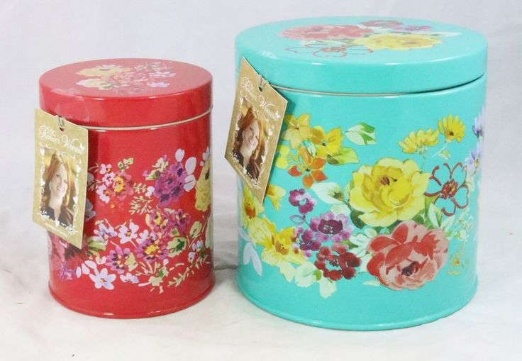 The Pioneer Woman Pair Of Tin Canister Set. Kitchen DishesCozy ...