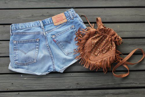 .: Fashion, Summer Looks, Dreams Closet, Summer Style, Brown Bags, Dreamcloset, Jeans Shorts, Shorts Fringes, My Style